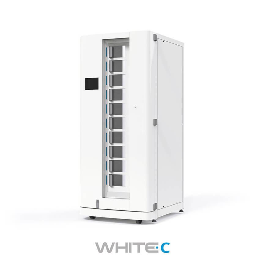 White C Garment Dispenser - ABG Systems - Product for Hospitals and Healtcare Structures in North America and Canada