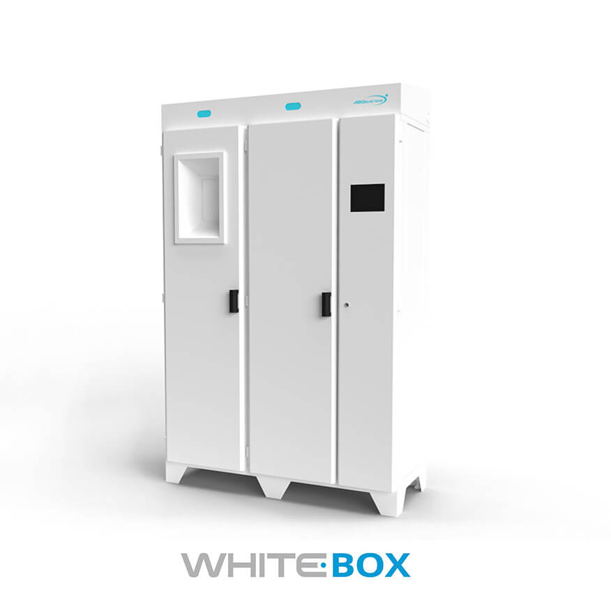 White Box Garment Dispenser - ABG Systems - Product for Hospitals and Healtcare Structures in North America and Canada